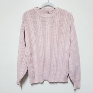 Vintage The Fox Collection Pink Knit Sweater